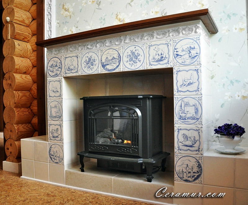 Click To Enlarge Image Family Fireplace Decorative Tiles 02 Jpg