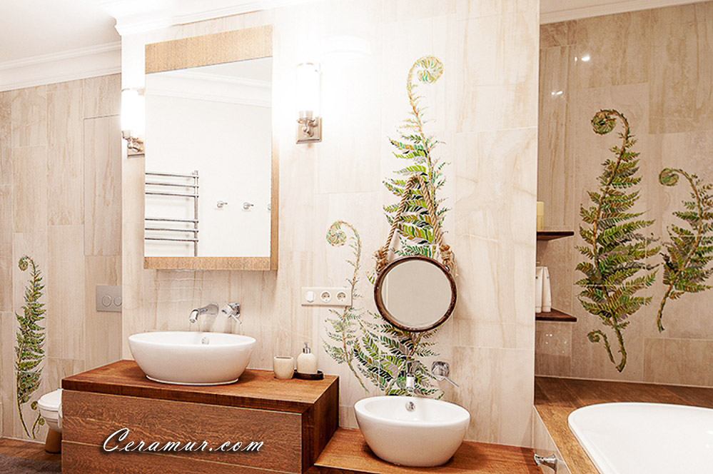 Click To Enlarge Image Fern Bathroom Decorative Tiles 01 Jpg