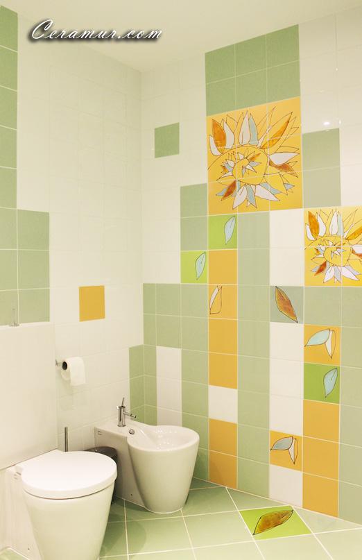 Click To Enlarge Image Leaves Bathroom Decorative Tiles 01 Ceramur Jpg